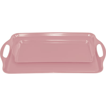 Calypso Basics, Tray Set(Tidbit & Rectangular), Pink