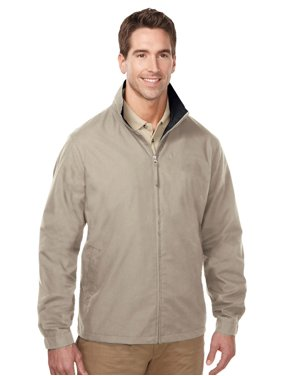 Tri-Mountain Men's Big And Tall Zipper Poplin Jacket