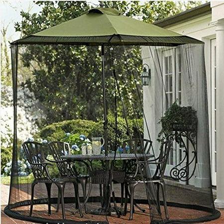Shatex 11' -W x 7.2'-H Umbrella Mosquito Patio Table Screen and net, Black ()