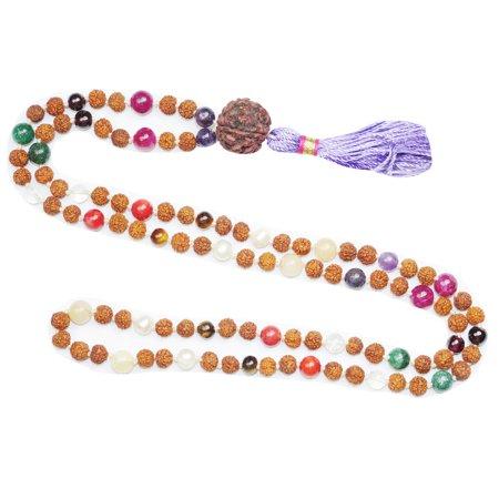 Mogul Chakra Mala Beads Heal And Balance Meditation Yoga Wrap Bracelet Or Necklace