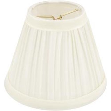 Bulk Buy: Pleated Cloth Covered Lamp Shade Ivory 2 1/2