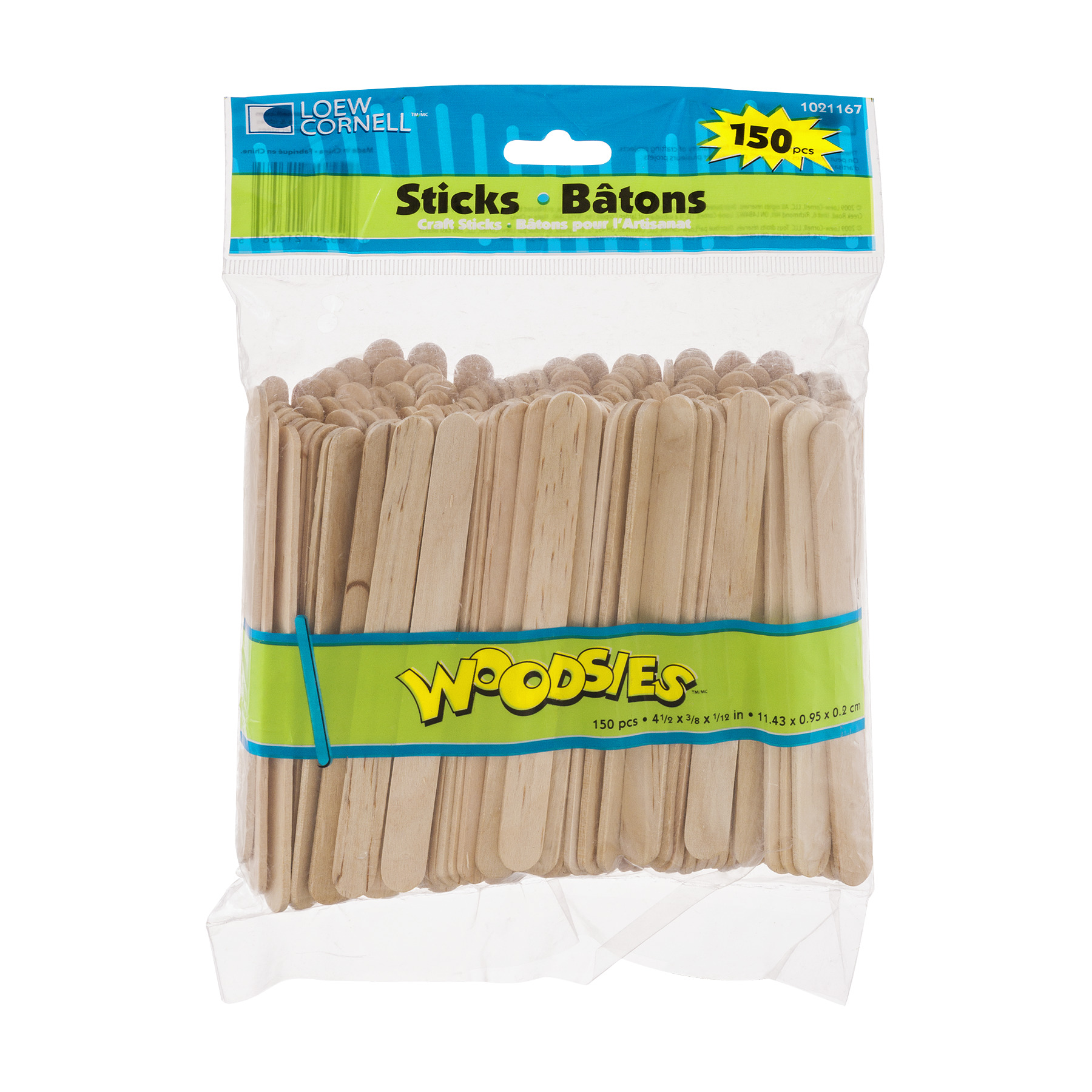 Loew Cornell Woodsies Craft Sticks - 150 CT150.0 CT