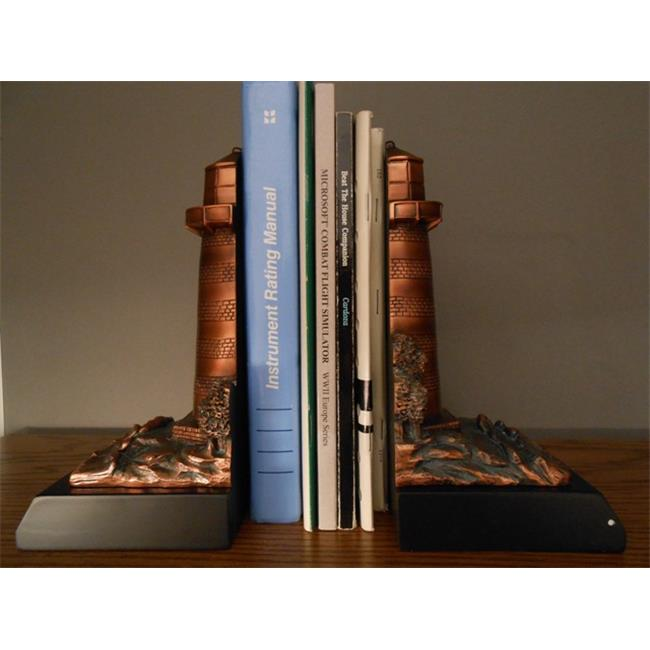 Marian Imports F52027 Lighthouse Bookends Bronze Plated Resin Sculpture