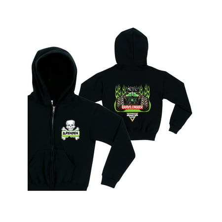 e50d8ded8664 Monster Jam - Personalized Monster Jam Grave Diggers Boys  Zip-Up ...