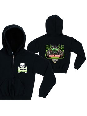 Personalized Monster Jam Grave Diggers Boys' Zip-Up Hoodie