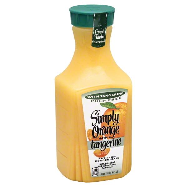 Simply Orange Pulp Free Tangerine Orange Juice, 59 Oz.