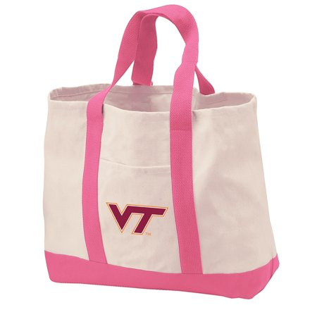 Virginia Tech Hokies Tote Bag CANVAS Virginia Tech Hokies Tote Bags for TRAVEL BEACH SHOPPING
