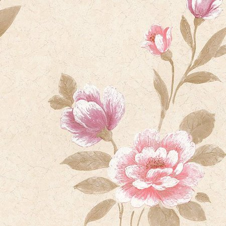 Norwall Wallcoverings Inc Silk Impressions 32 7 X 20 5 In Reg Grand Floral Wallpaper