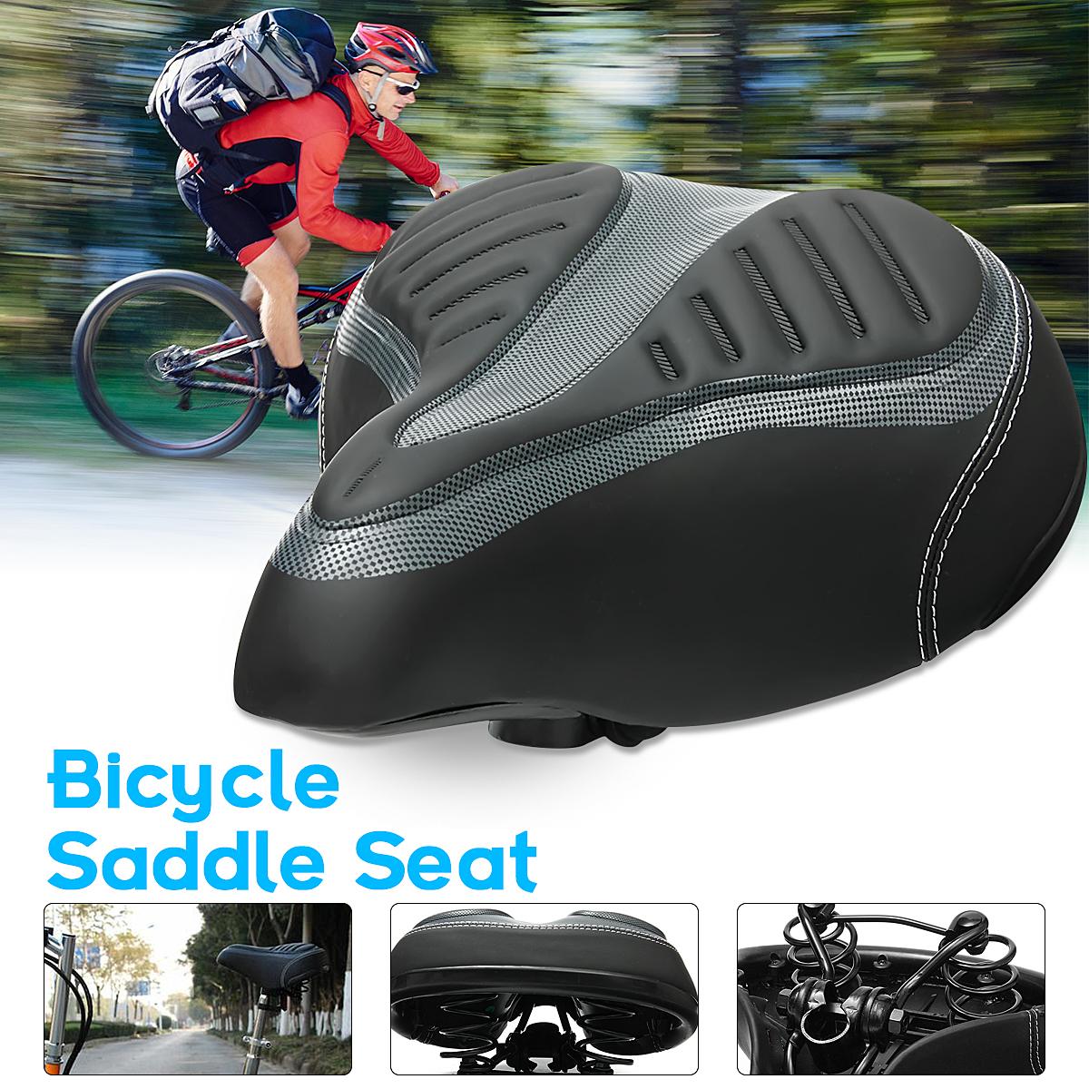 Cycling Bike Seat Wide Big Bum Saddle Seat Mountain Bike Bicycle Comfortable & Soft Cushion Pad Sports