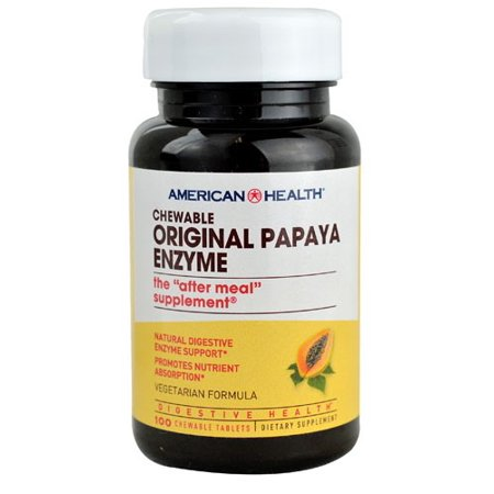 American Health Original Papaya Enzyme Chewable 100 Tablets