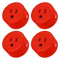 Litedge Smart Plug, Red - 4-Pack