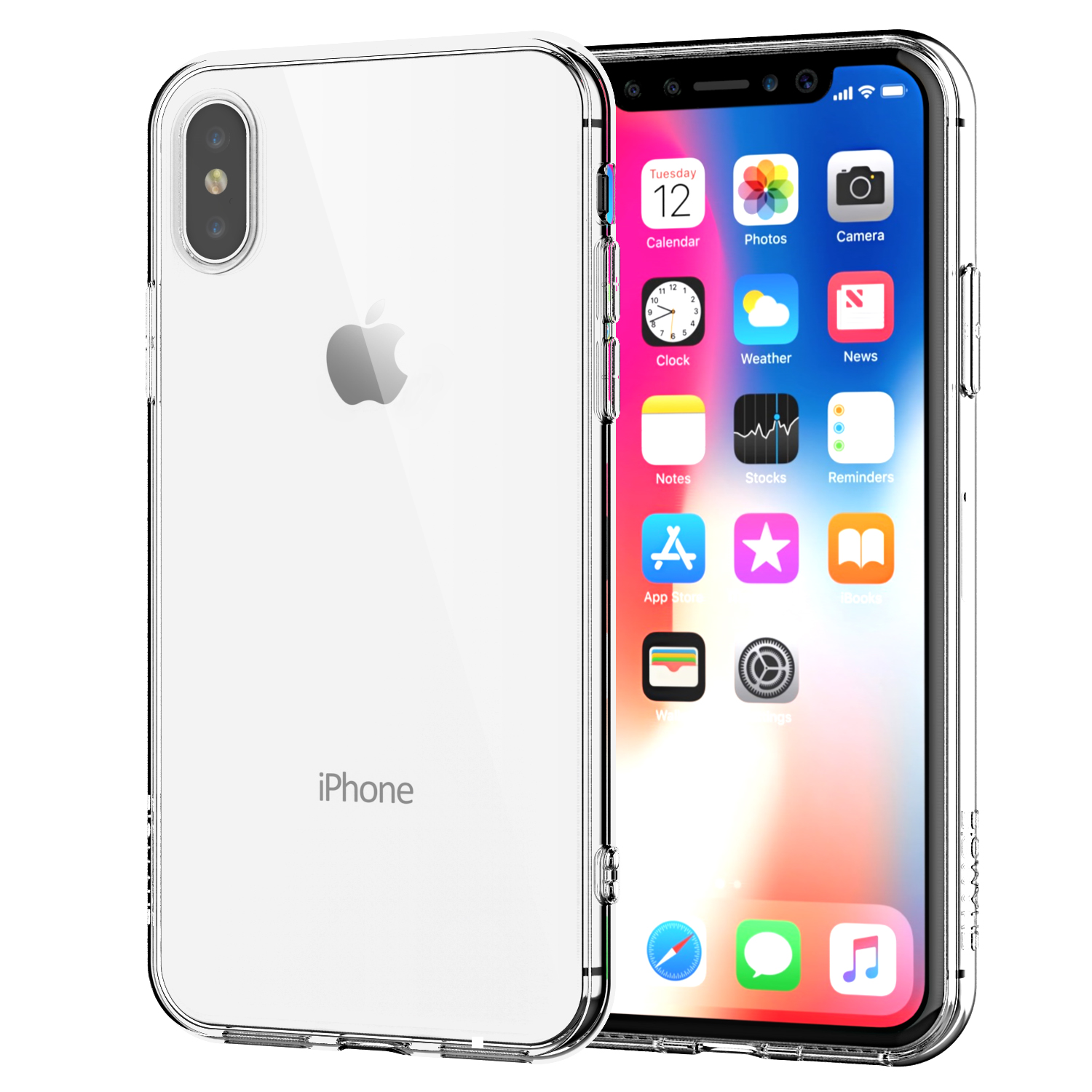 iPhone X Clear Case TPU Rubber Silicone Transparent Shock-Proof