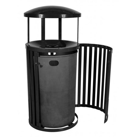 Outdoor Trash Receptacle - Outdoor Trash Receptacle in Black Gloss Finish