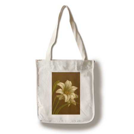 Lilies Oil Painting - Easter Lily - Oil Painting - Lantern Press Artwork (100% Cotton Tote Bag - Reusable)