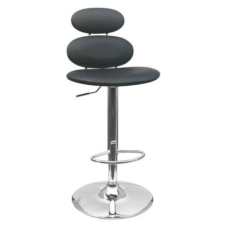 Best Master Furniture Tufted Vinyl Adjustable Height Bar Stool, Black or