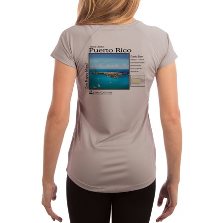 Island Classics Puerto Rico Women's UPF 50+ UV Sun Protection Short Sleeve T-shirt XX-Large Athletic