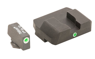 AmeriGlo I-Dot 2 Dot Sights for Glock 17, 19, 22, 23, 24, 26, 27, 33, 34, 35, 37, 38, 39, Green with White Outline,... by AMERIGLO