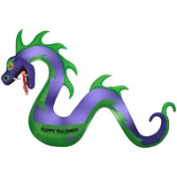 Halloween Airblown Inflatable 7ft. Serpent with Flaming Mouth