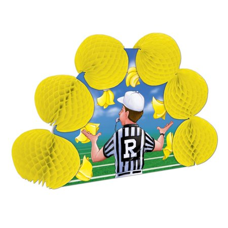 Club Pack of 12 Football Referee Pop-Over Honeycomb Centerpiece Party Decorations 10