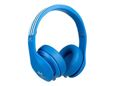 adidas Originals by Monster Headphones with mic on-ear wired 3.5 mm jack noise isolating blue by Monster