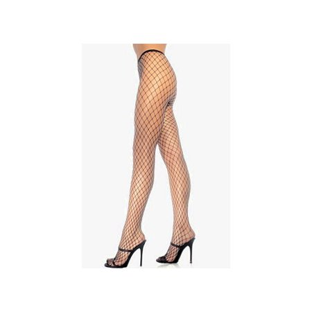 Leg Avenue Women's Diamond Net Pantyhose, Red, One Size