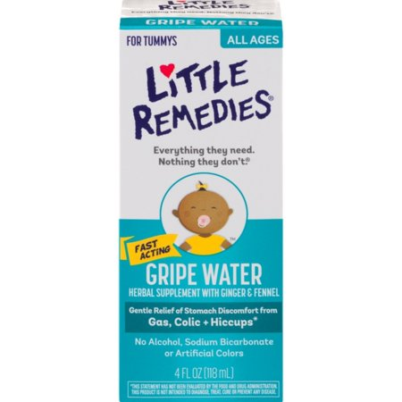 Historical Remedies Calm Drops - Little Remedies Little Tummies Gripe Water Herbal Supplement, 4 oz