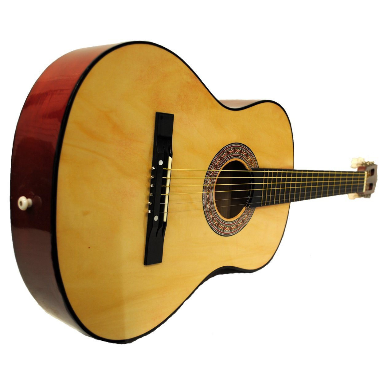 "38"" Starter Acoustic Guitar with Performer Package KIT Bag:Tuner:Pick - Natural"