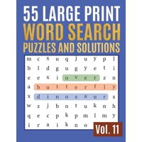 Find Words for Adults & Seniors: 55 Large Print Word Search Puzzles And Solutions: Activity Book for Adults and kids - Word Search Puzzle: Wordsearch puzzle books for adults entertainment Large Print