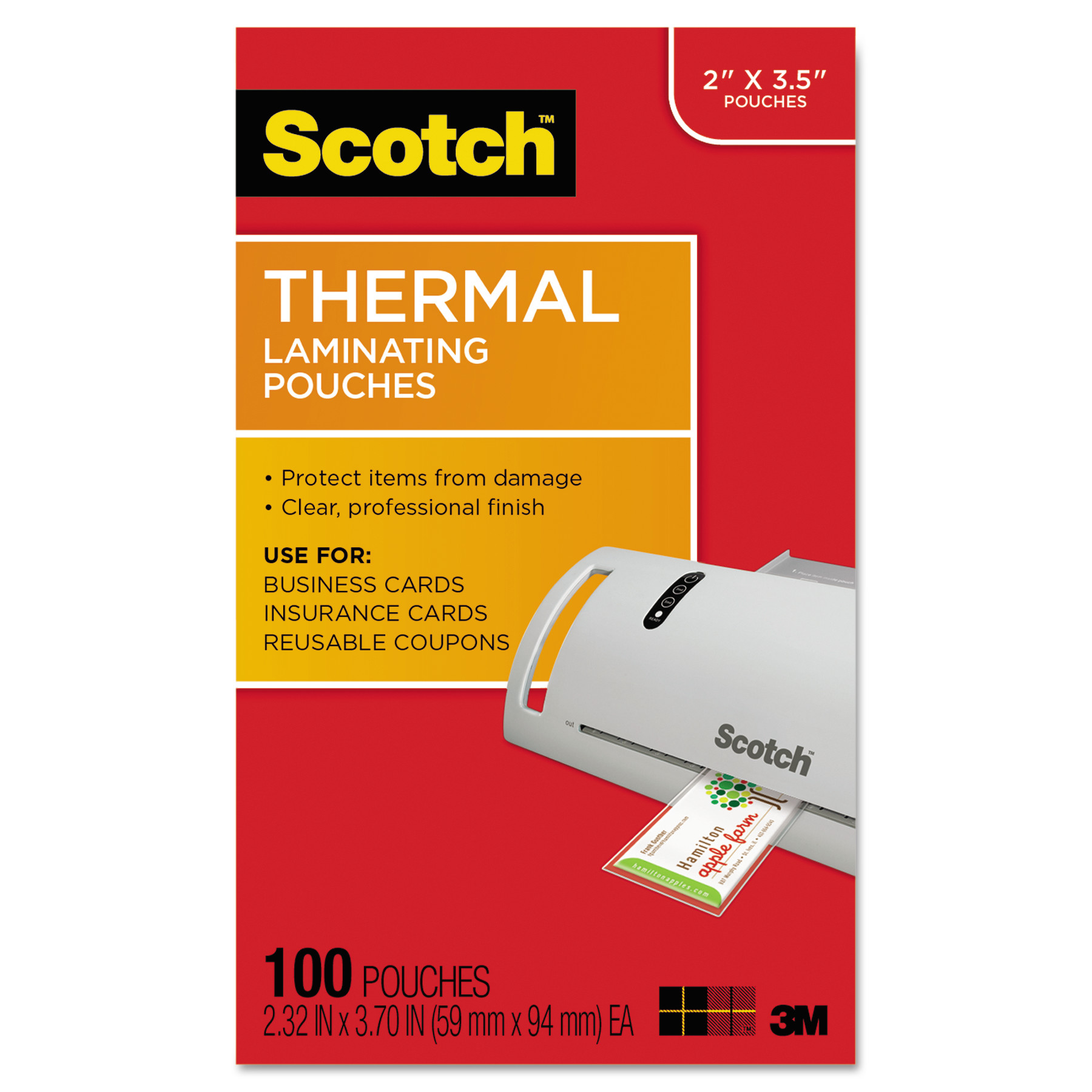 Scotch business card size thermal laminating pouches 5 mil 3 34 x scotch business card size thermal laminating pouches 5 mil 3 34 x reheart Images
