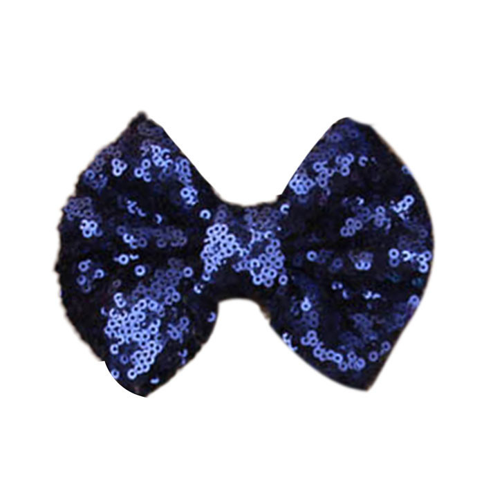 Outtop 2015 New Children Sequin Barrettes Cute Baby Girl Big Bow Hair Accessories SB