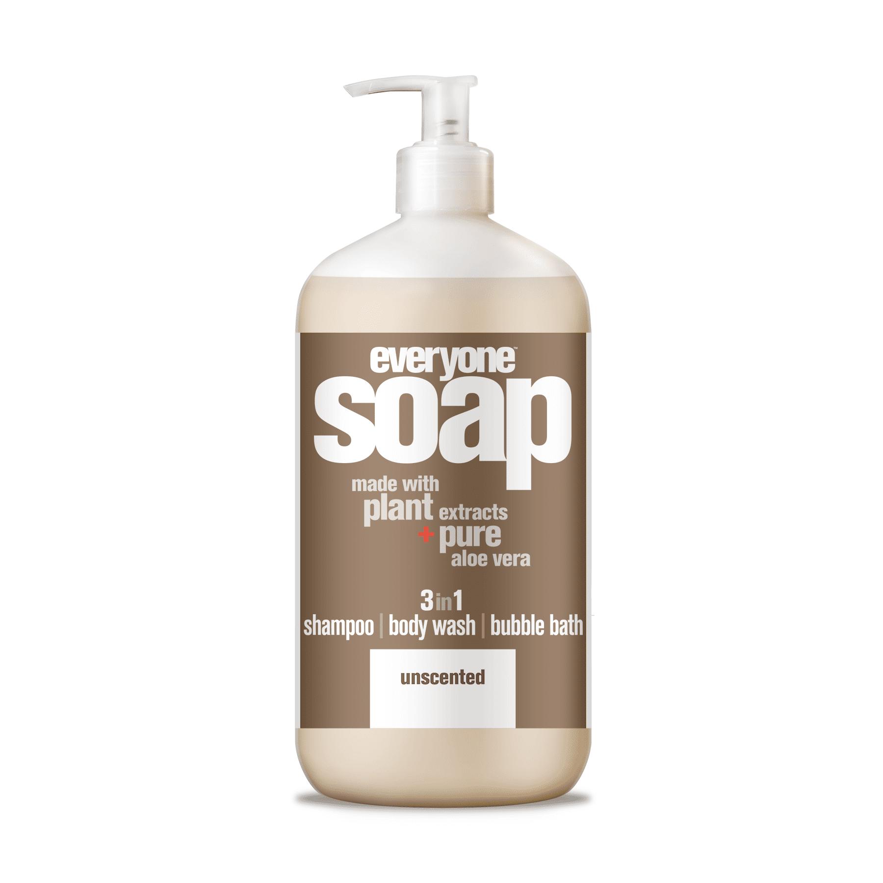 Everyone 3-in-1 Soap Unscented Shampoo Body Wash Bubble Bath 32 oz.