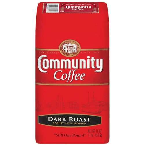 Community Coffee: Dark Roast Coffee, 16 oz