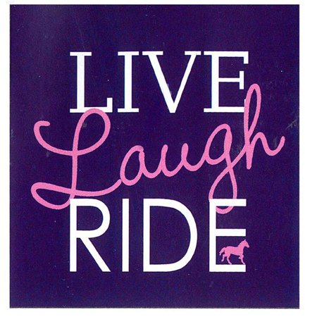 The Sound Equine Q27LNY Horse Humor Tee Shirt Live Laugh Ride, Large - (Equine Riding Apparel)