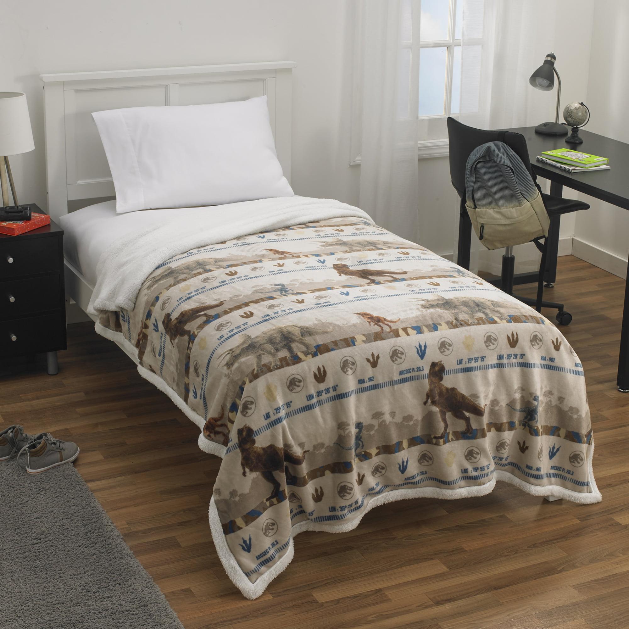 Jurassic Park Fleece Throws Blanket Sofa Warm Sherpa Print Blanket For Gift