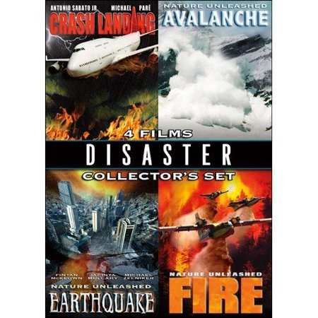 Disaster Collector's Set: Crash Landing / Avalanche / Earthquake / Fire (Widescreen) - Adventure Landing Halloween