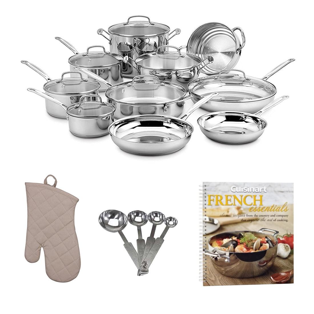 Cuisinart 17-Piece Chef's Classic Cookware Set w/ Cookboo...