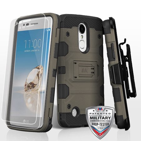 For LG K4/Fortune/K8/Phoenix 3 3-in-1 Storm Tank Hybrid Protector Cover Combo