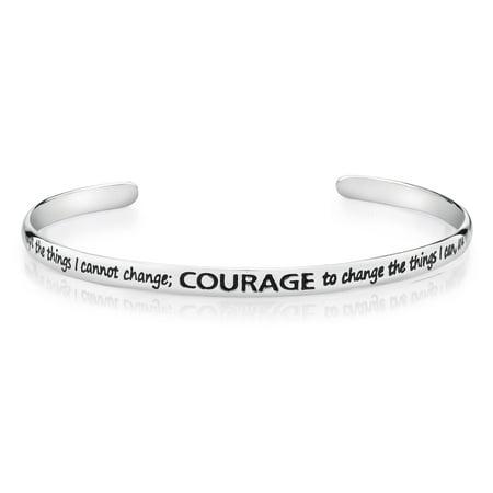 Sterling Silver Serenity Prayer Cuff - Prayer Box Bracelet