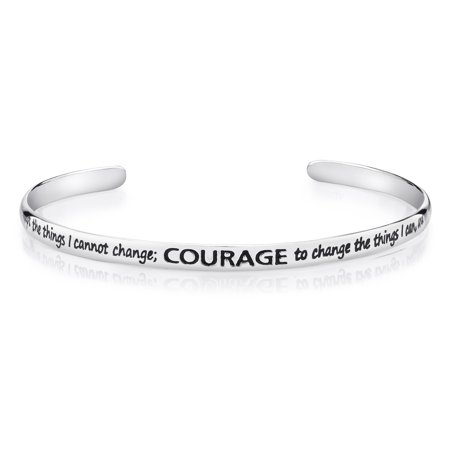Prayer Bracelets (Sterling Silver Serenity Prayer Cuff)