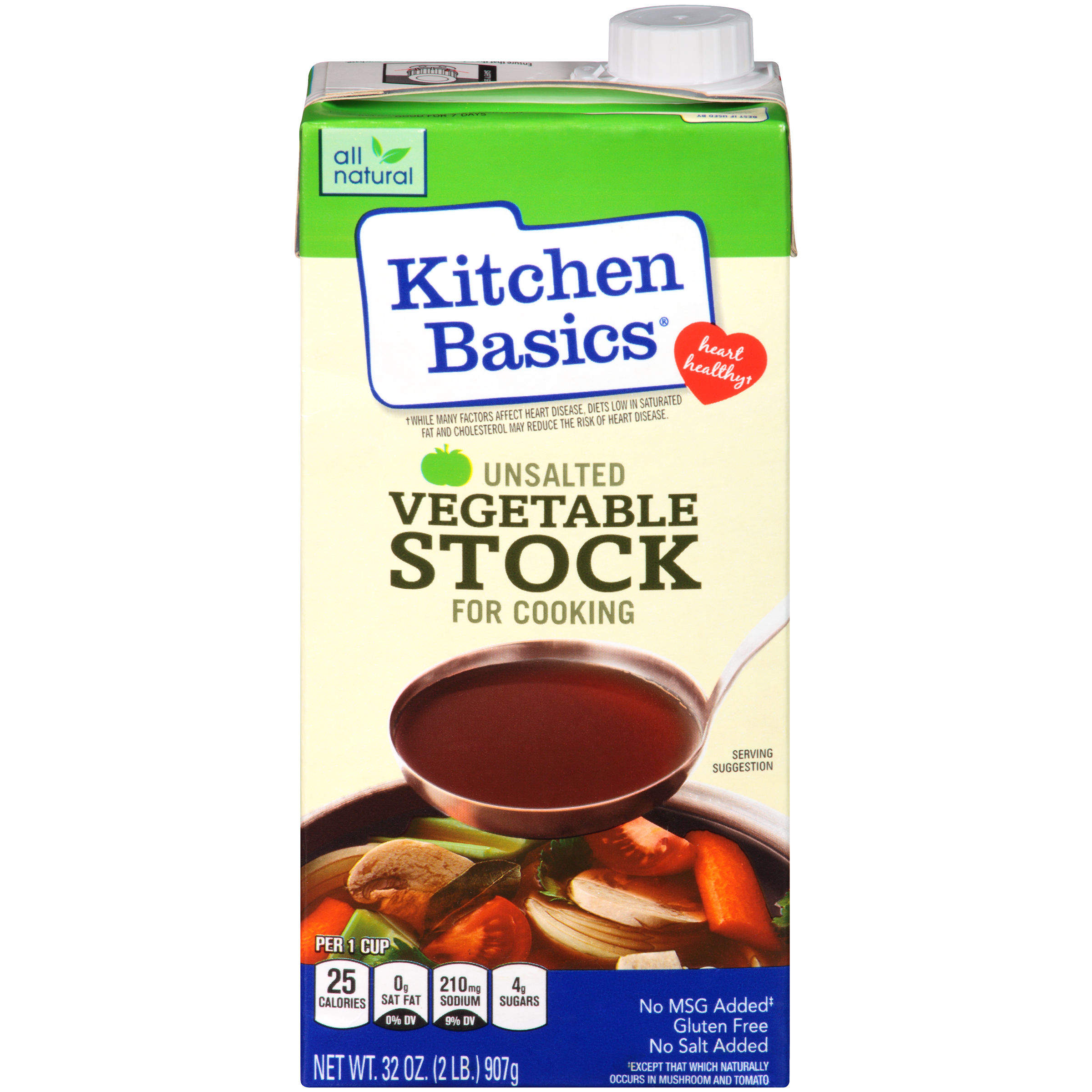 Kitchen Basics® Unsalted Vegetable Stock, 32 oz