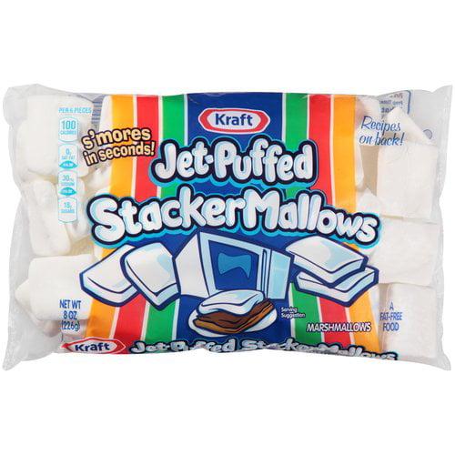Kraft Jet-Puffed Stacker Mallows Marshmallows, 8 oz