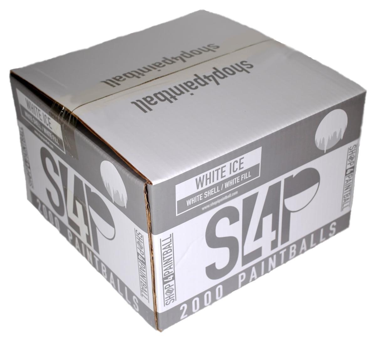 Shop4Paintball - WHITE ICE - .68 Caliber Paintballs - White/White - Case of 2000