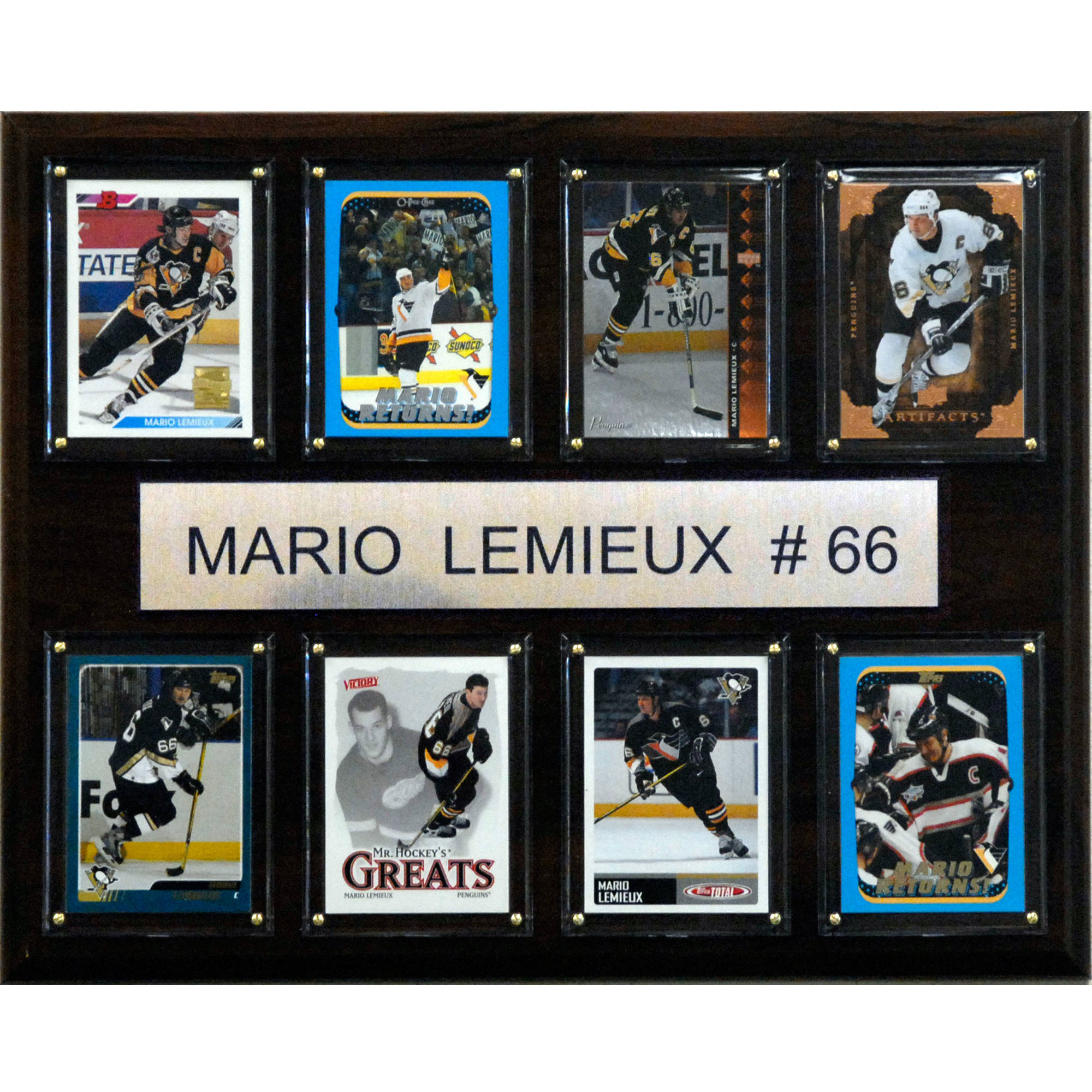 C&I Collectables NHL 12x15 Mario Lemieux Pittsburgh Penguins 8-Card Plaque