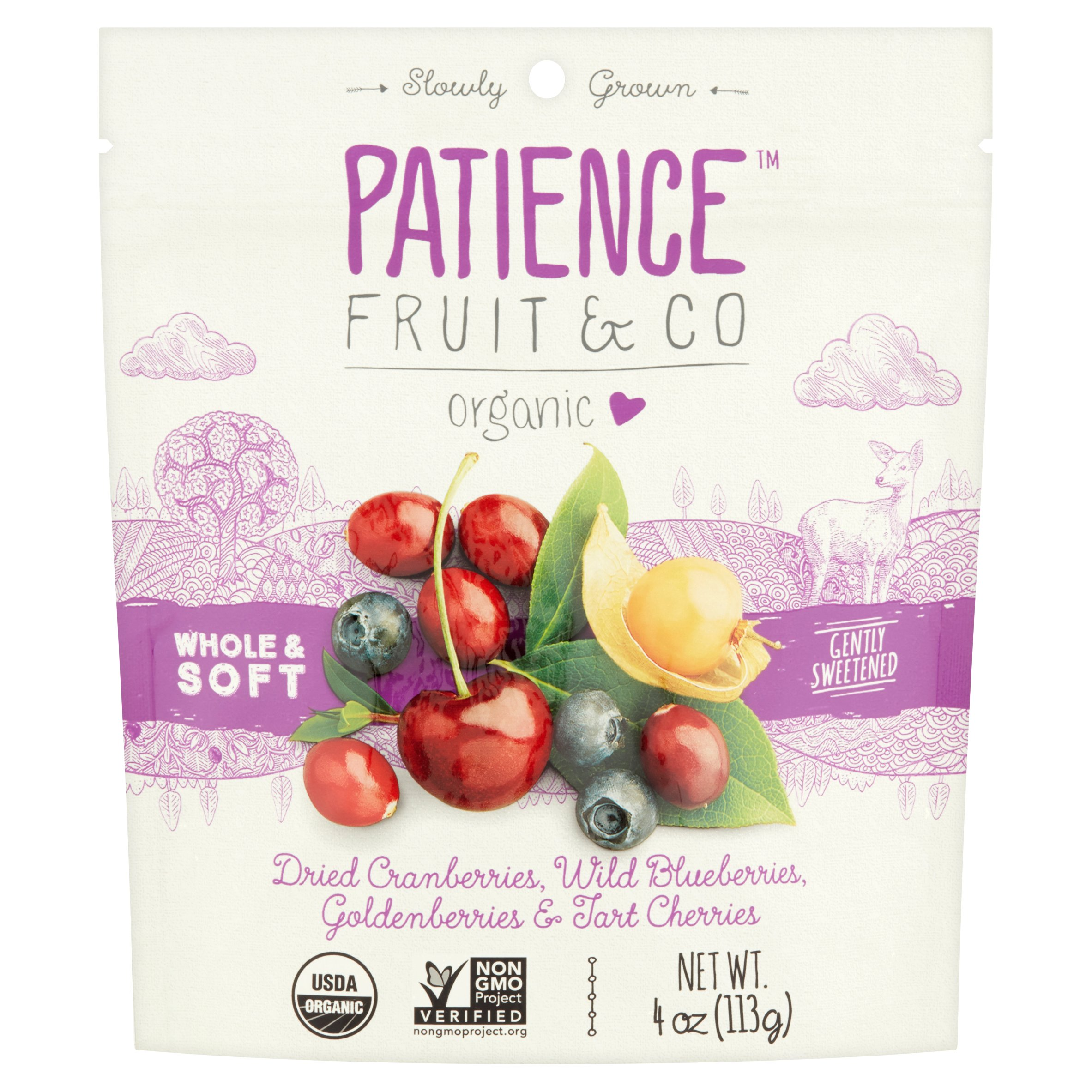 Patience Fruit & Co Organic Dried Cranberries, Wild Blueb...