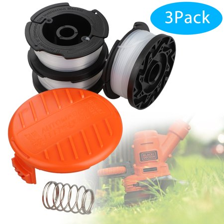"""TSV 3Pack String Trimmer Spool Replacement 30ft 0.065"""" Refills Line Auto Feed for Black and Decker String Trimmer GH400 GH610 ST6600 CST1000 NST2018 LST220"""