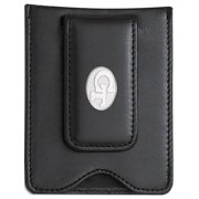 Sterling Silver Georgia Tech Gt Oval Black Leather Money Clip Wallet Designer Jewelry by Sweet Pea