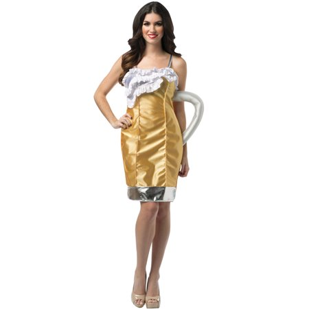 Beer Mug Dress Adult Costume - Beer Mug Costumes