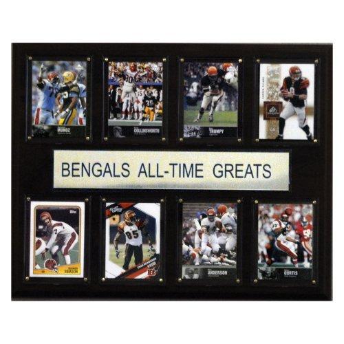 """C & I COLLECTABLES NFL 12""""x 15"""" Cincinnati Bengals All-Time Greats Plaque"""