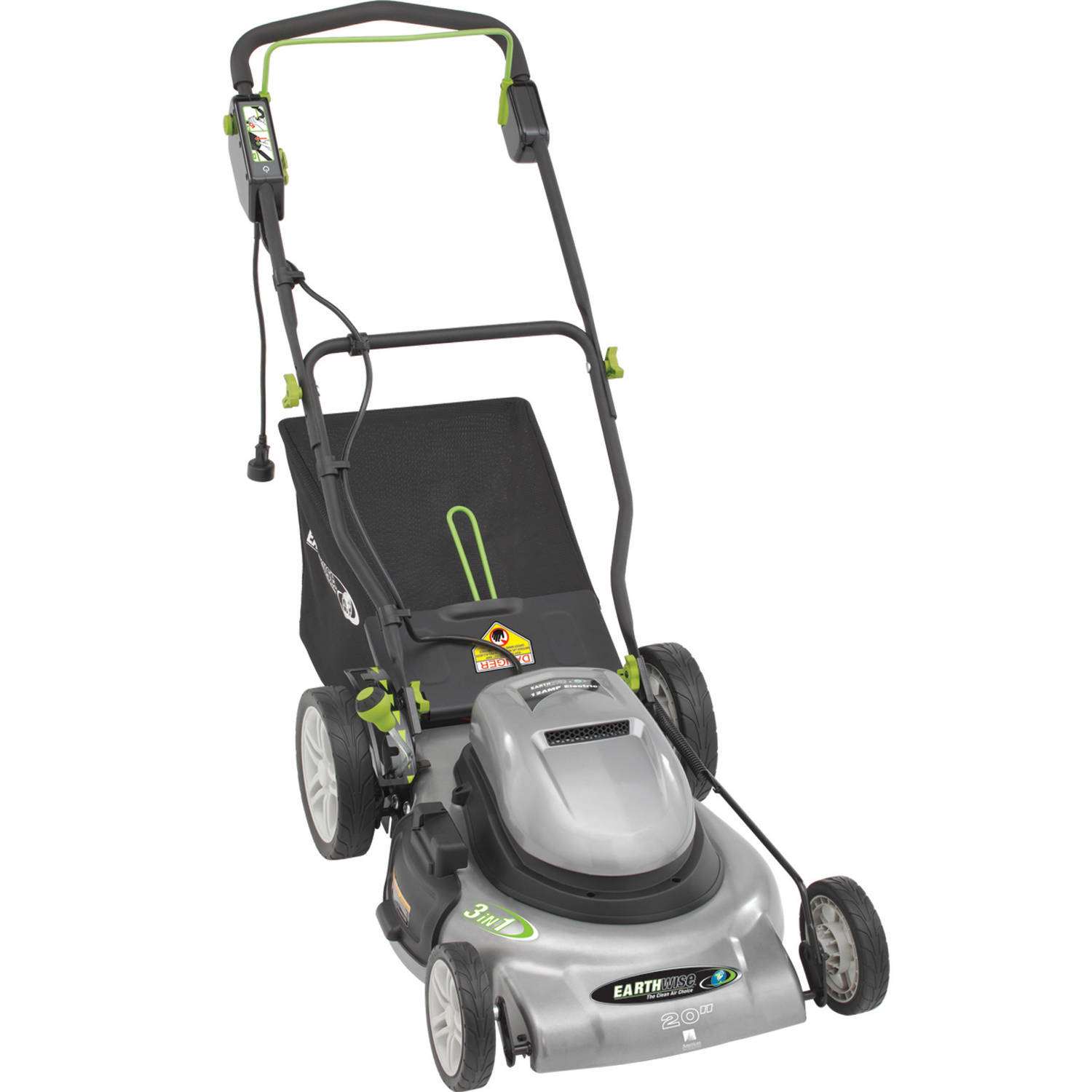 "Earthwise 20"" 12 Amp Corded 3-in-1 Electric Lawn Mower by Great States Corporation"