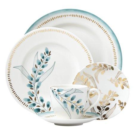 - Lenox  Goldenrod Multicolored Porcelain 5-piece Floral Place Setting